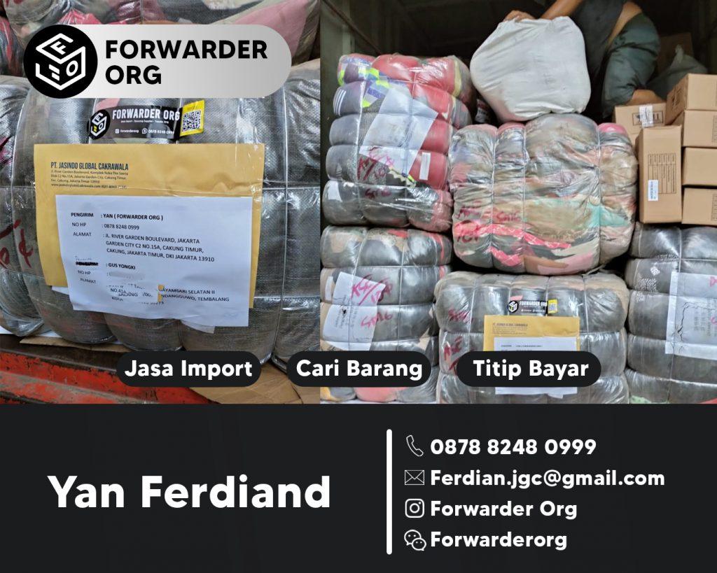Jasa Import Baju dan Tas dari China LCL dan FCL | JGC CARGO
